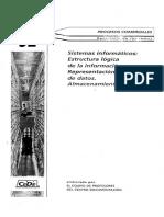 52. Sistemas Informáticos. Estructura Lógica de La Información.