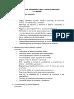 Organismos Que Intervienen en El Comercio Exterior Colombiano