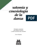 Anatomia y Cinesiologiade La Danza