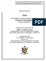 Project report MBA