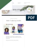 Basic t Shirt in Crochet