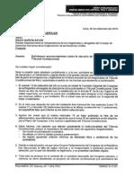 Carta de la Bancada FA a la CIDH y la ONU sobre elección de magistrados en el TC
