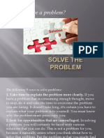 9 Steps to Solve the Problem