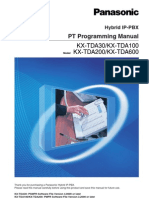 Panasonic KX-TDA System Phones Programming Manual