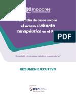 Estudio de Casos Sobre El Acceso Al Aborto Terapéutico en El Perú
