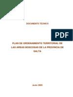 Salta 2009 OT Areas Boscosas Documento técnico