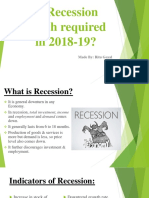 Is Recession Watch Required in 2018-19