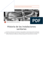 Historia de Las Instalaciones Sanitarias