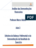 Aula 3 Estrutura do Balanço Patrimonial e da Demonstração de Resultado do ExercÃ-cio