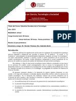 Curso Maestría CTS-Estudios Sociales de La Tecnologia-2019-Virtual