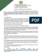Edital PPGE Ingresso 2020 Retificado