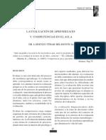 La Evaluación de Aprendizajes y Competencias en El Aula. Belmonte, Lorenzo.