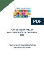 Plan de Acción Para La Implementación de La Agenda 2030