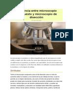 Diferencia Entre Microscopio Compuesto y Microscopio de Disección