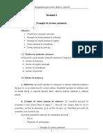 Modulul 1 Exemple de Sisteme Automate