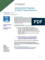 DES-1121 Specialist-Implementation Engineer PowerMax Exam