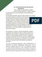 Protocolo de Activación Del Derecho Internacional Humanitario1