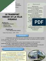 Transport Urbain Et Ville Durable