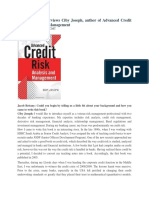 MoneyScience Interviews the Author of Adv Credit Risk Analysis and Mgmt