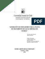 Generación de Indicadores Para La Planta de Tratamiento de Aguas Servidas de Osorno