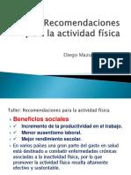 recomendaciones actividad física