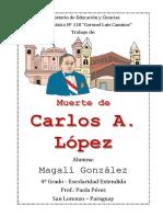 Muerte de Carlos Antonio Lopez
