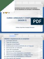 Lenguajes y Compiladores Sesion 2 Semestre 2019-0 12-01-2019 Version 1.0