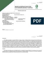 Temario. Procesos de Manufactura