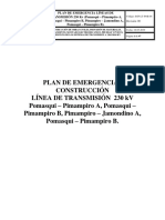 Plan de Emergencias LT 230 Kv