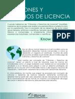 Canones y Derechos de Licencia