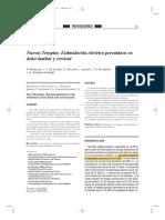 Estimulación eléctrica percutánea en dolor lumbar y cervical