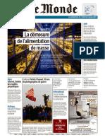 Journal LE MONDE Et Suppl Du Dimanche 1er Et Lundi 2 Septembre 2019