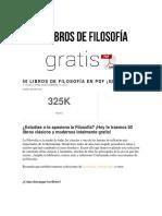 50 Libros de Filosofía en PDF