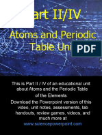 atoms and periodic table unit part iiiv for educators download ppt