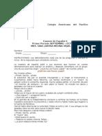 EXAMEN DE II GRADO ESPAÑOL SECUNDARIA