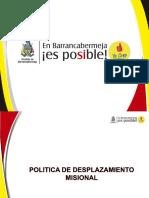 Presentacion - Politica de Desplazamiento