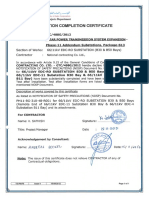 TE-P4-F5 Erection Completion Certificate