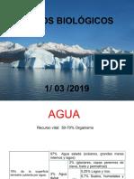 Clase No. 3. El agua y los ciclos biológicos 1-03-2019