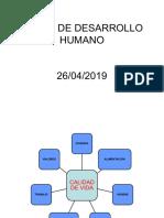 Clase No. 8-9 Calidad de Vida e Índice de Desarrollo Humano. 19 y 26 de Abril-2019 3er Corte