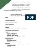 Manual de Boas Praticas de Dispensacao Drogaria Farmacia