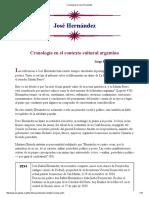 Cronología de José Hernández