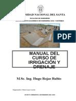 Manual de Irrigacion y Drenaje. Hugo Roj