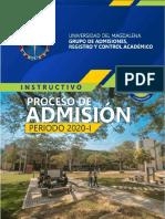 proceso de admisión periodo 2020-I UniMag