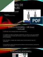 Ingeniería de Materiales Dureza Rockwell