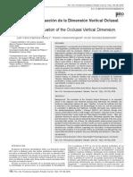 Métodos de Evaluación de La Dimensión Vertical Oclusal.