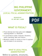 Financing Philippine Local Government