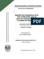 Apuntes de Geoquimica de La Tierra Silicatada Para El Curso de Geoquimica de La Facultad de Ingenieria
