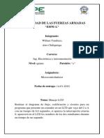 Informe Lcd en Microcode