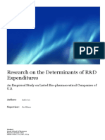 Research on the Determinants of R&D Expenditures - LulLin Lu