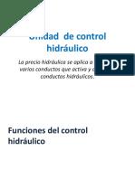 Unidad de Control Hidráulico